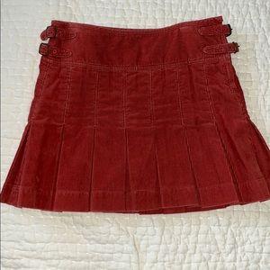Ralph Lauren Pleated Corduroy Skirt